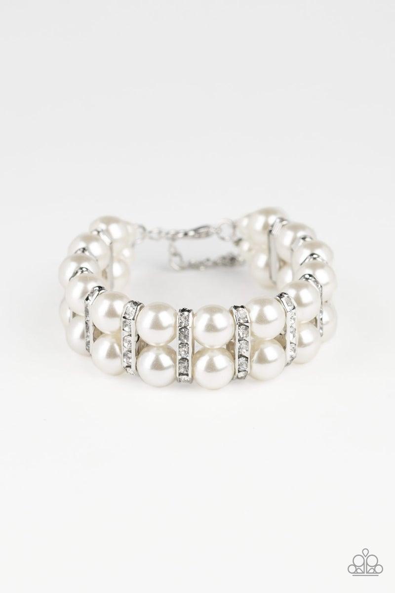 Glowing Glam Pearl Bracelet