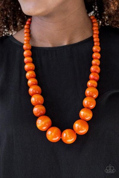 Effortlessly Everglades Orange Necklace