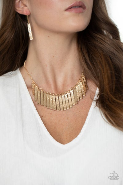 Metallic Muse Gold Necklace
