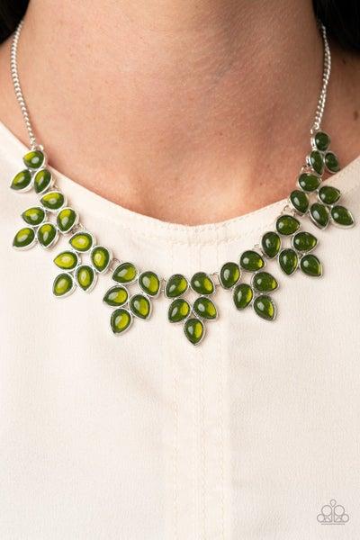 Hidden Eden Green Necklace