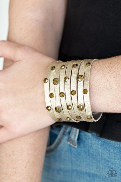 Go-Getter Glamorous Brass Bracelet