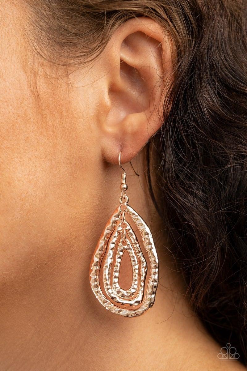 Metallic Meltdown Rose Gold Earrings