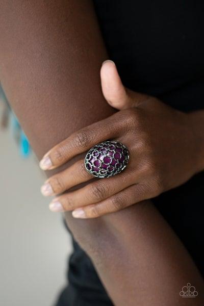 Stellar Scope Purple Gunmetal Ring