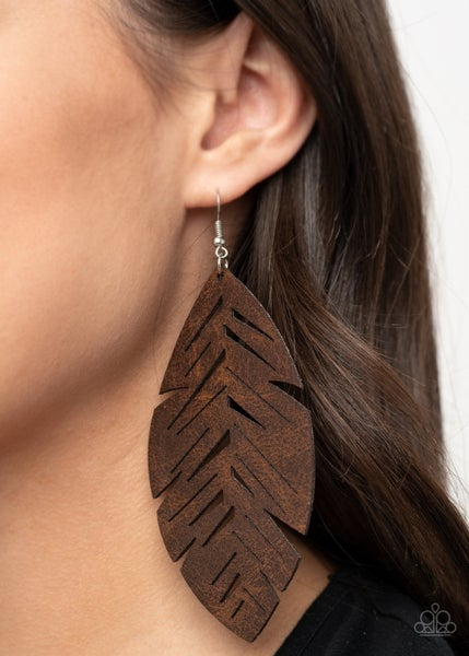 I Want To Fly Brown Earrings