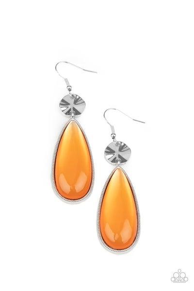 Jaw Dropping Drama Orange Earrings