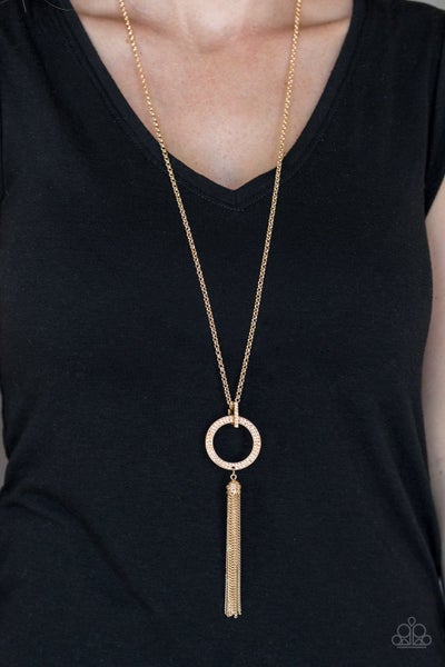 Straight To The Top Gold Necklace