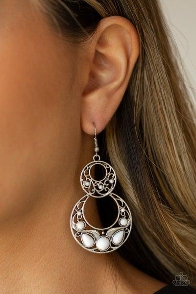 West Coast Whimsical White Earrings