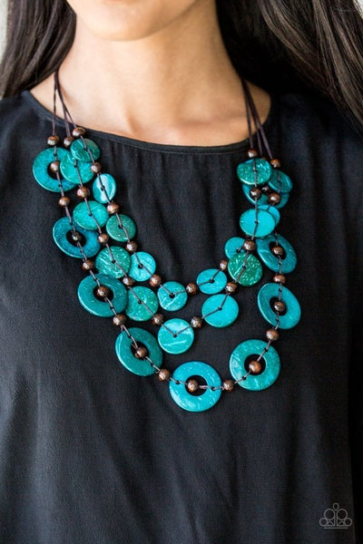 Catalina Coastin' Blue Necklace