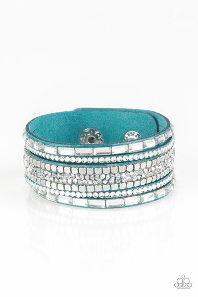 Rebel In Rhinestones Blue Bracelet