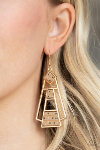 Retro Minimalist Gold Earrings