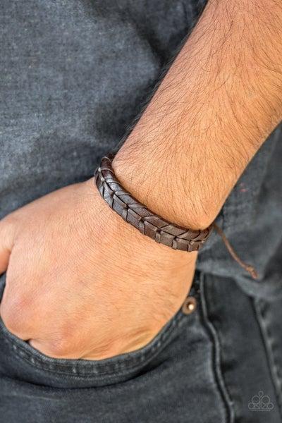 Navy Nautical Brown Urban Bracelet