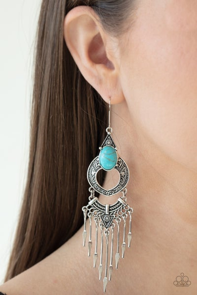 Southern Spearhead Turquoise Earrings