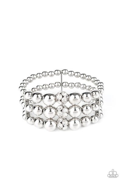 Icing On Top White Bracelet
