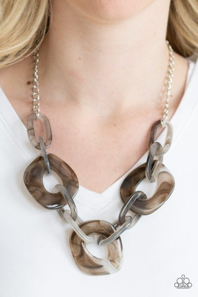 Courageously Chromatic Silver Necklace