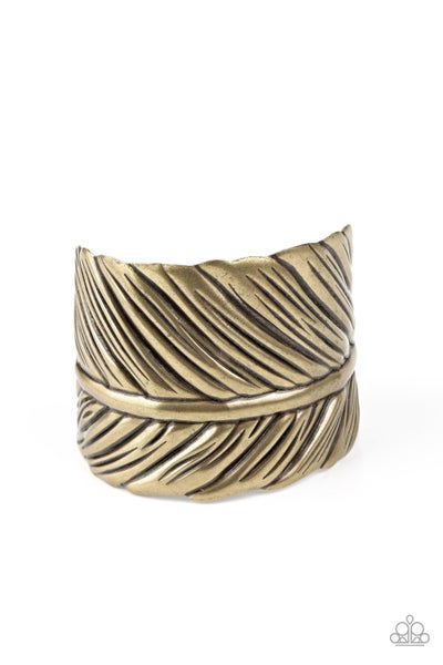 Where There's A Quill, There's A Way Brass Bracelet