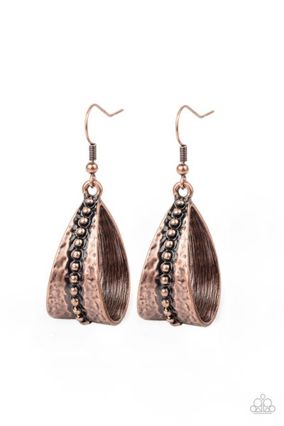 Stirrup Some Trouble Copper Earrings
