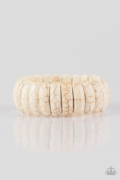 Peacefully Primal White Bracelet