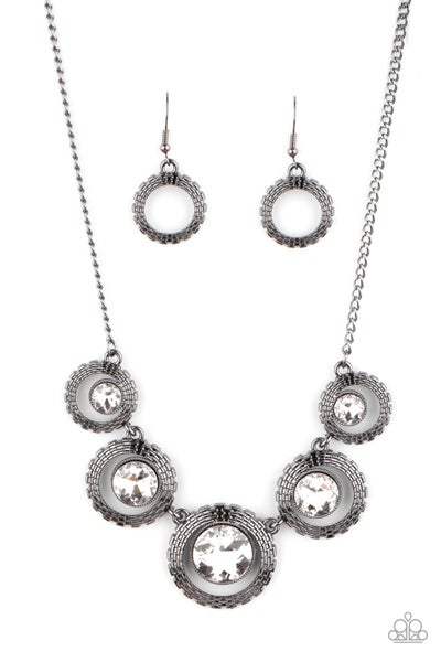 Pixel Perfect Gunmetal Necklace