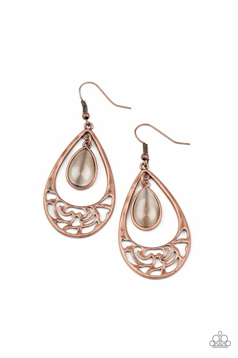 DEW You Feel Me Copper Earrings