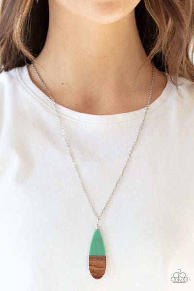Going Overboard Green Necklace