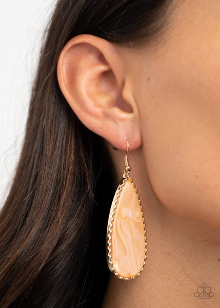 Ethereal Eloquence Gold Earrings