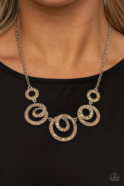 Total Head Turner Brown Necklace