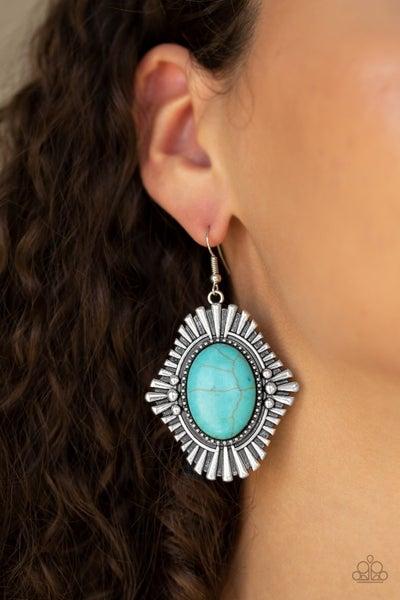 Easy As Pioneer Turquoise Earrings