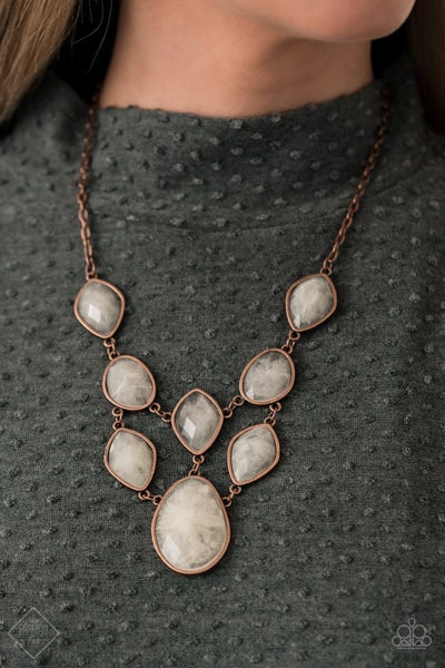 Opulently Oracle Copper Necklace
