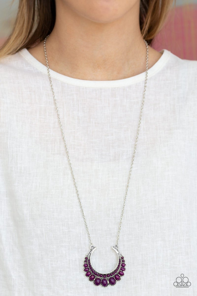 Count To Zen Purple Necklace