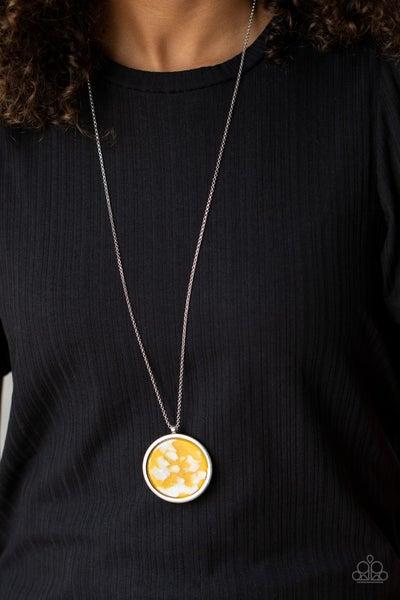 It's Pop Secret Yellow Necklace