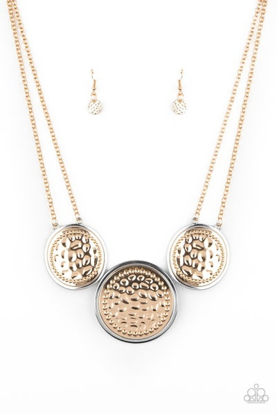 Gladiator Glam Gold Silver Necklace