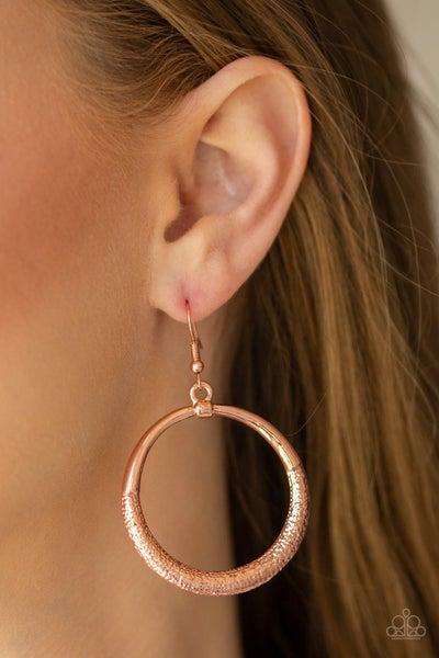 Modern Shimmer Copper Earrings