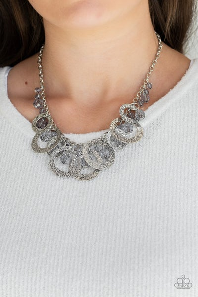 Turn It Up Silver Necklace