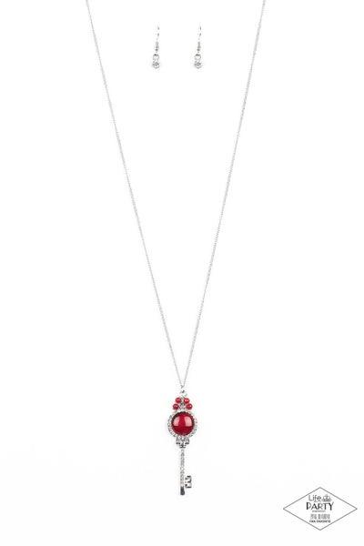 Unlock Every Door Red Necklace