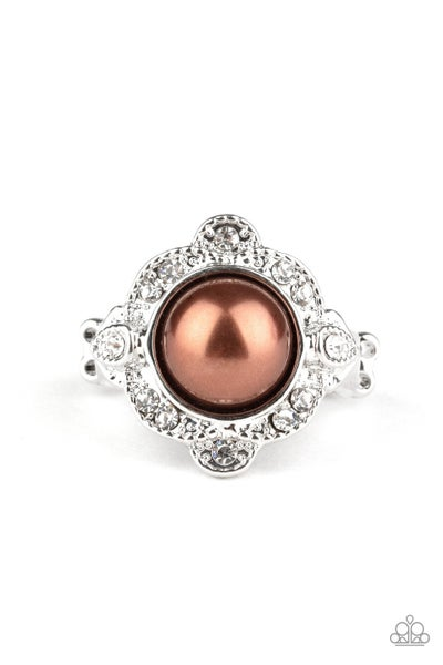 Ornamental Opulence Brown Ring