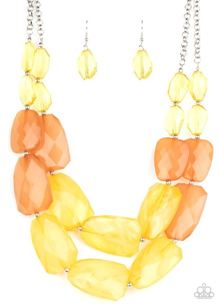 Gives Me Chills Yellow Necklace