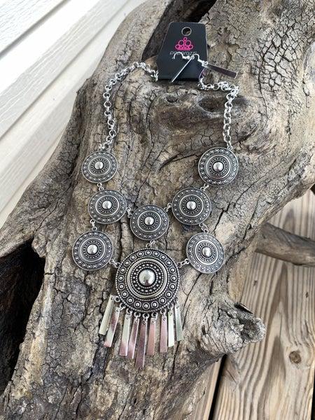 Modern Medalist Silver Necklace