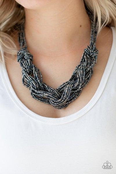 City Catwalk Blue Necklace