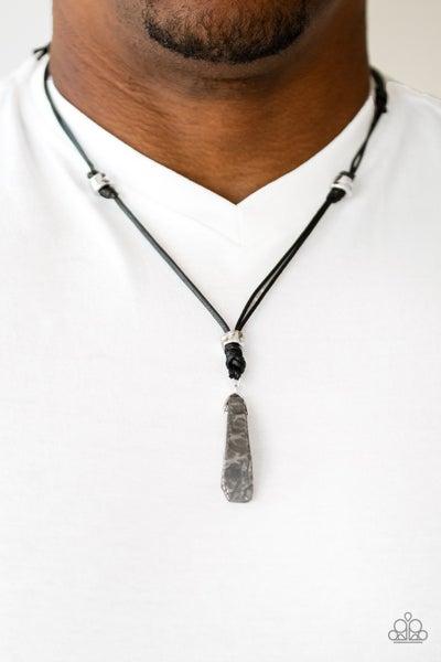Midnight Meteorite Black Urban Necklace
