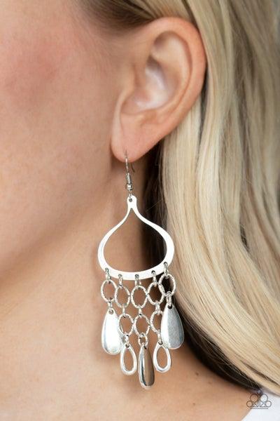 Lure Away Silver Earrings