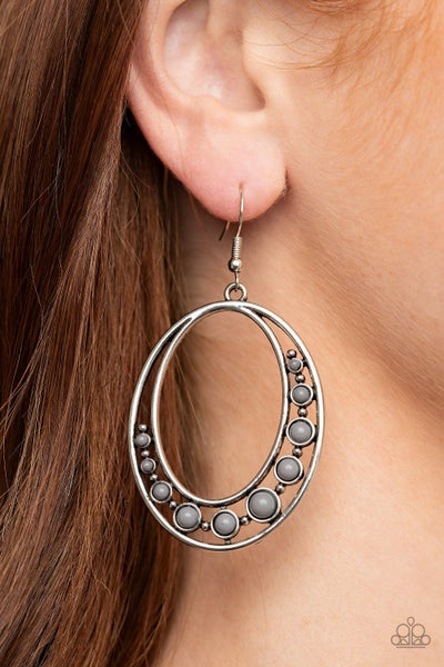 Crescent Cove Silver Earrings