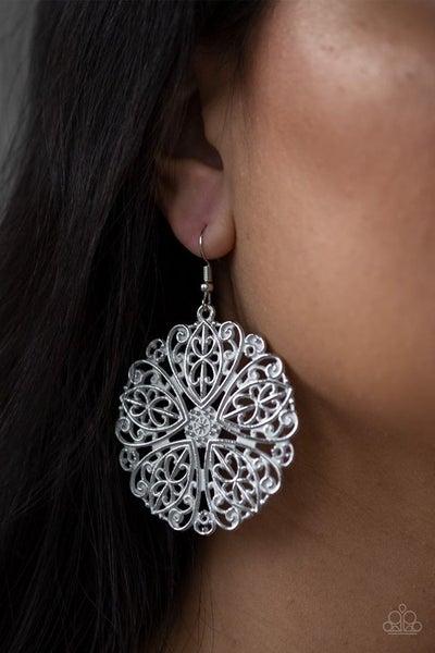 Ocean Paradise White Earrings