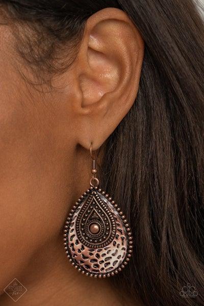 Rural Muse Copper Earrings