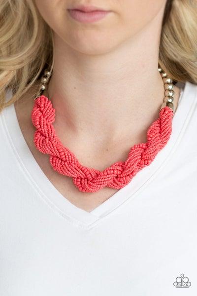 Savannah Surfin' Orange Necklace