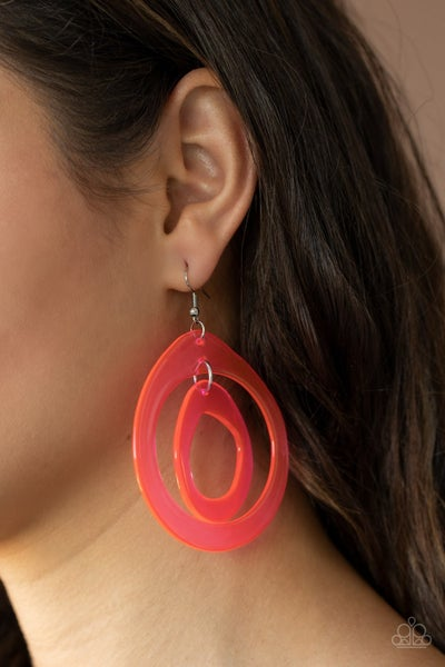 Show Your True Neons Pink Earrings