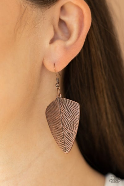 One Of The Flock Copper Earrings