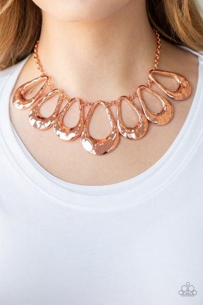 Teardrop Envy Copper Necklace