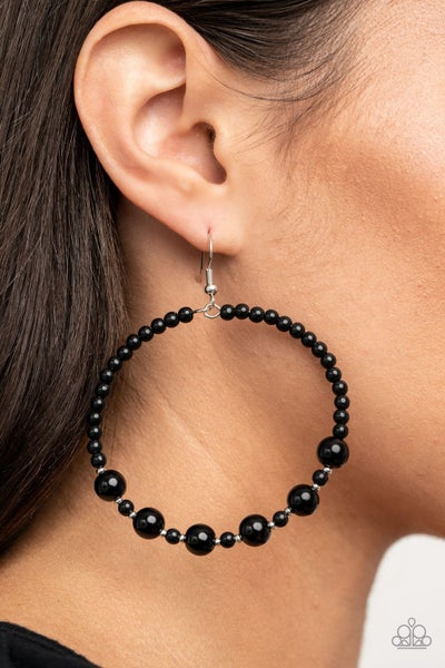 Boss Posh Black Earrings
