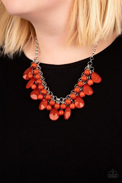 Endless Effervescence Orange Necklace