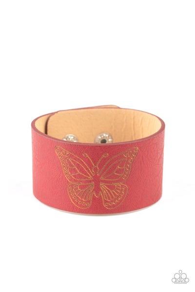 Flirty Flutter Red Bracelet